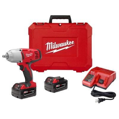 M18 18-Volt Lithium-Ion Cordless 1/2 in. Impact Wrench with Pin Detent Kit with (2) 3.0Ah Batteries, Charger & Hard Case