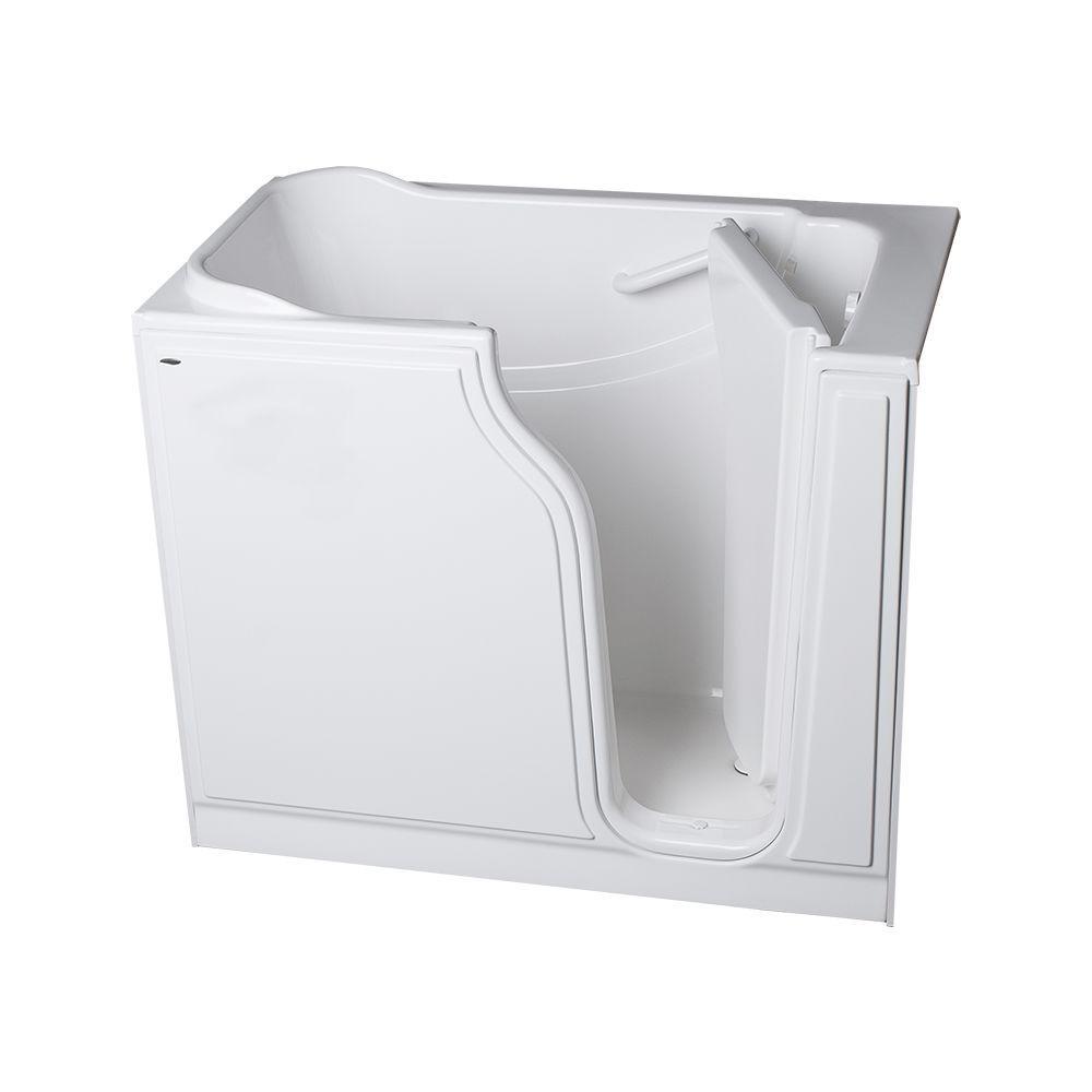 American Standard Gelcoat Standard Series 52 in. x 30 in. Walk-In Soaking Tub in White