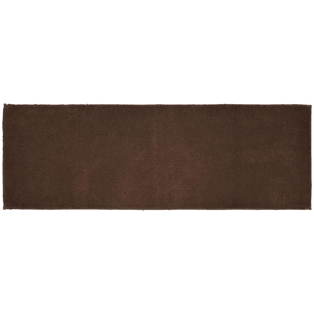 Garland Rug Queen Cotton Chocolate Brown 22 In X 60 In Washable Bathroom Accent Rug Shop