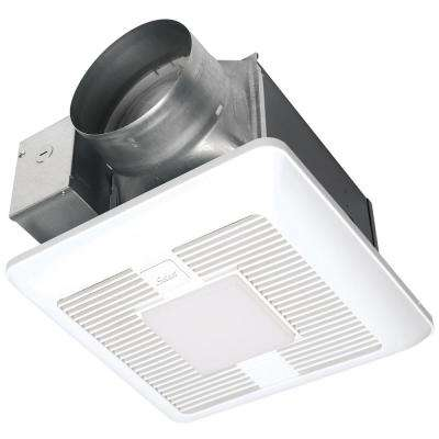 WhisperGreen Select Pick-A-Flow 110/130/150 CFM Exhaust Fan LED Light Flex-Z Fast Install bracket 6 in. duct adapter