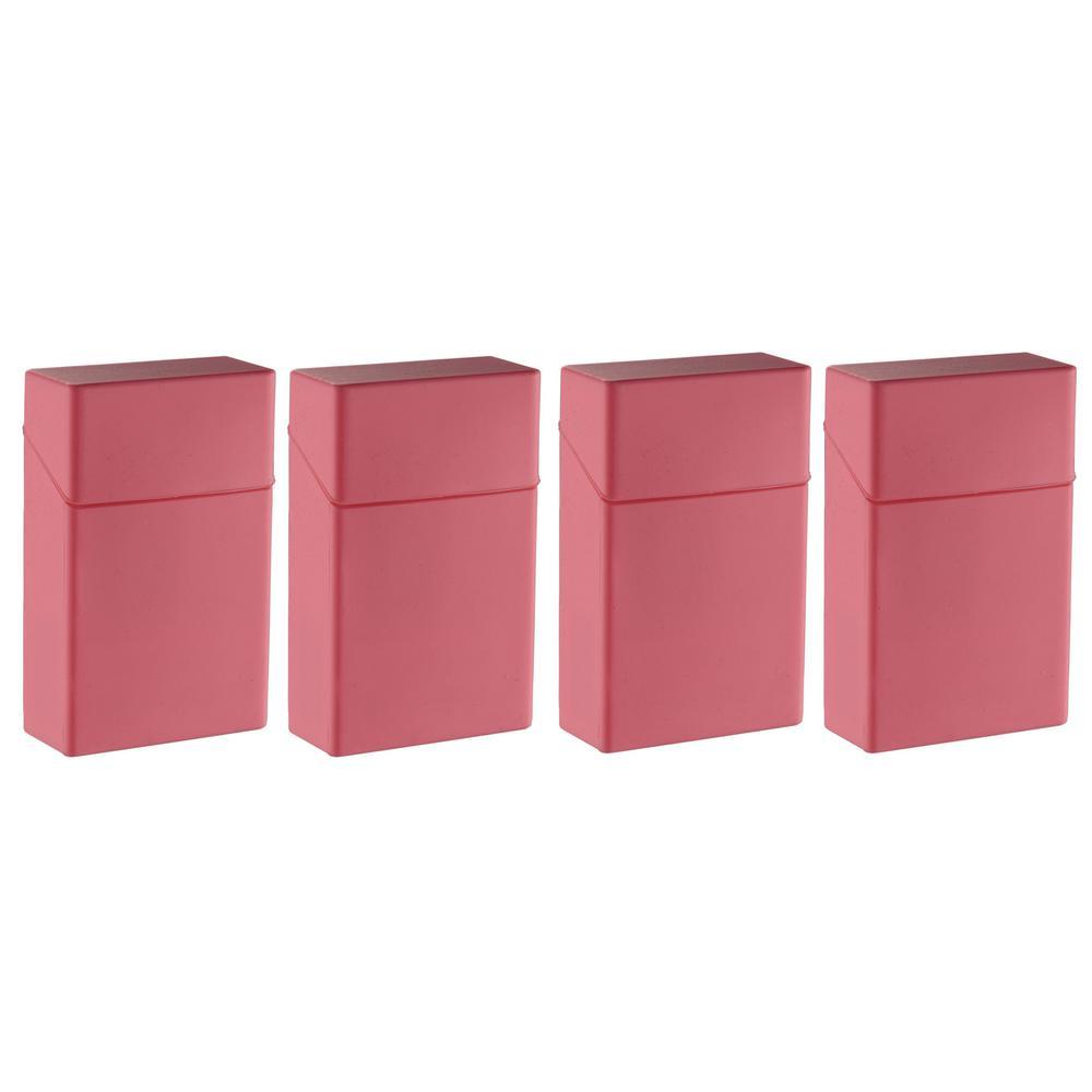 Silicon Rubber Cigarette Case, Pink (4-Pack)