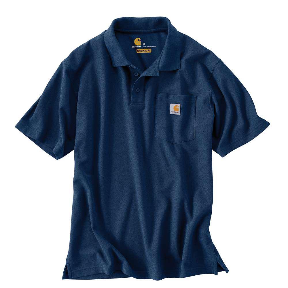 Men's Regular X Small Dark Cobalt Blue Heather Polyester/Cotton Short-Sleeve T-Shirt