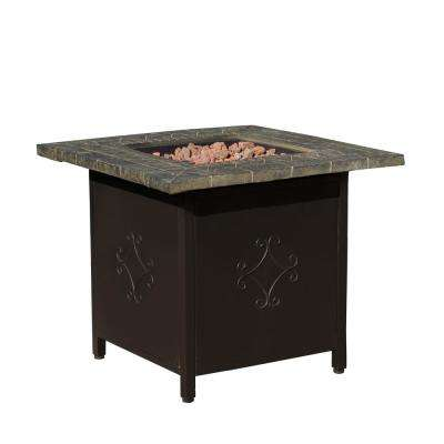 Tiburon 30 in. x 24 in. Square MGO Fire Pit in Copper - 40,000 BTU