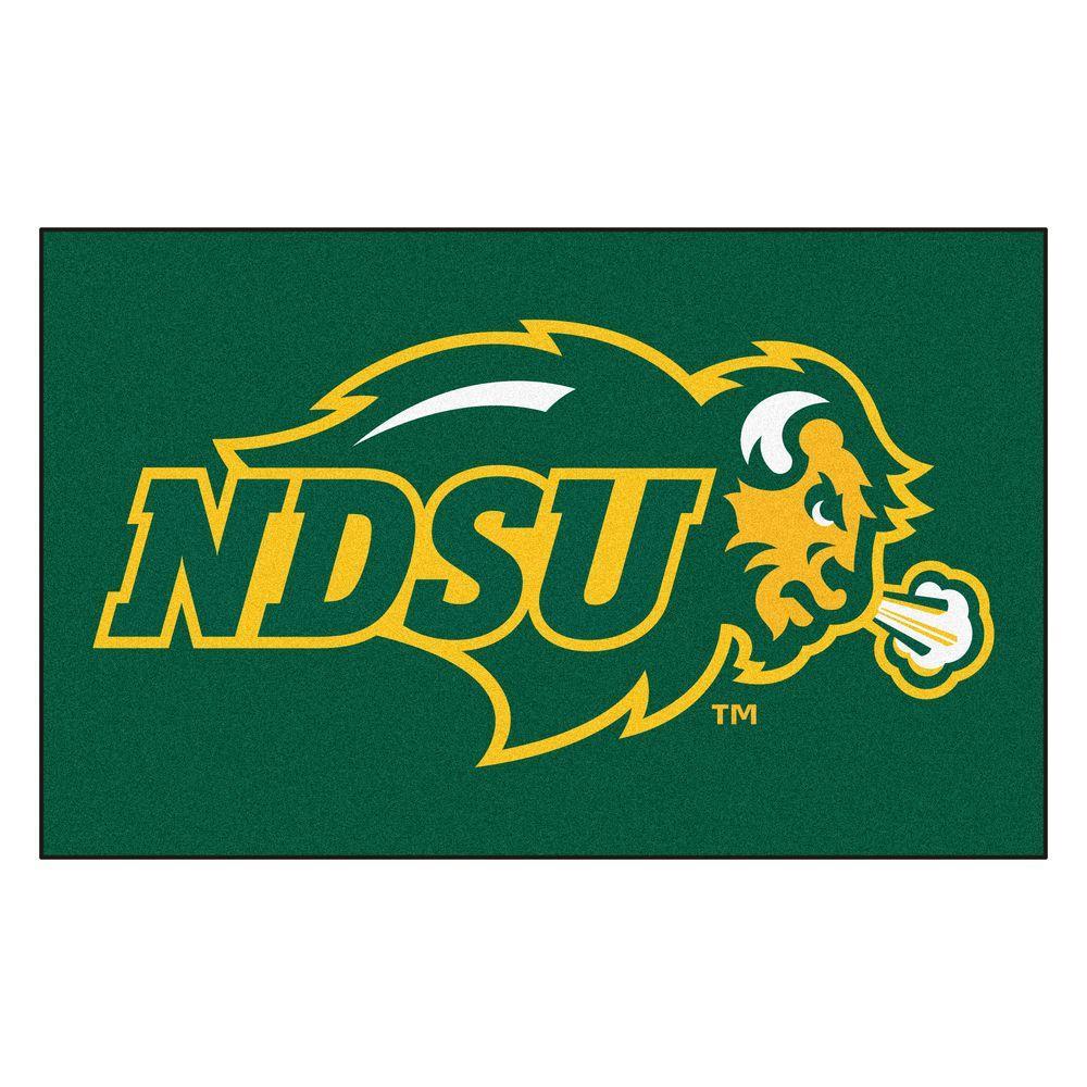 Fanmats Ncaa North Dakota State University Green 5 Ft X 8