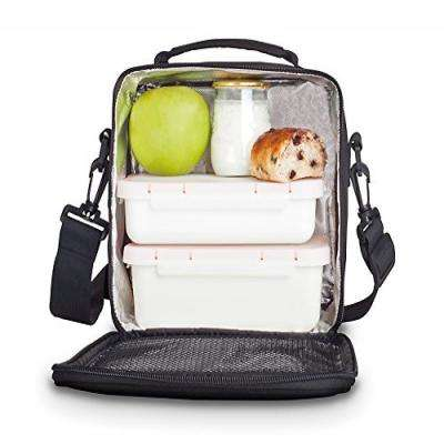 Compact Black Lunch Bag