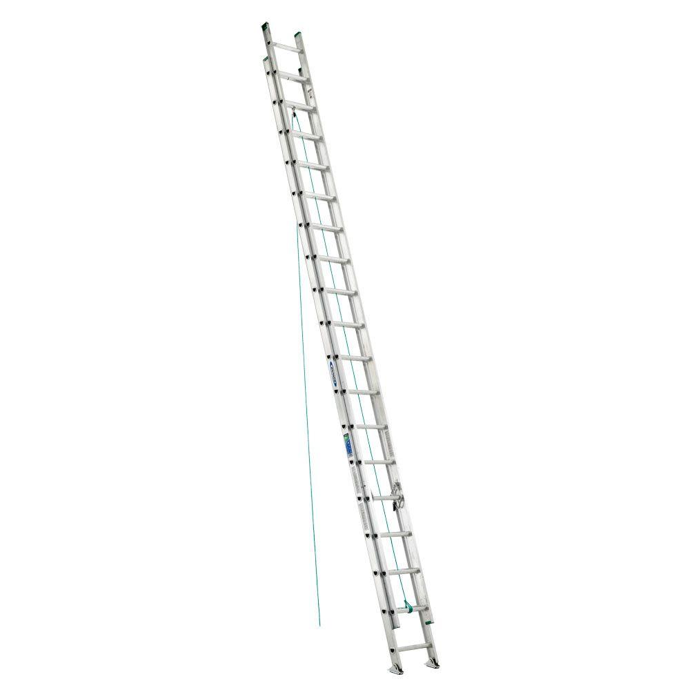 36 ft. Aluminum D-Rung Extension Ladder with 225 lb. Load Capacity
