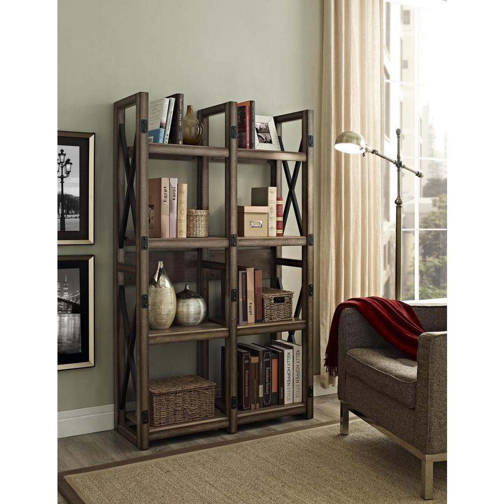 Ameriwood Forest Grove Gray Open Bookcase HD13528