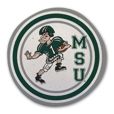 Michigan State Multicolor Melamine Dinner Plate (Set of 6)