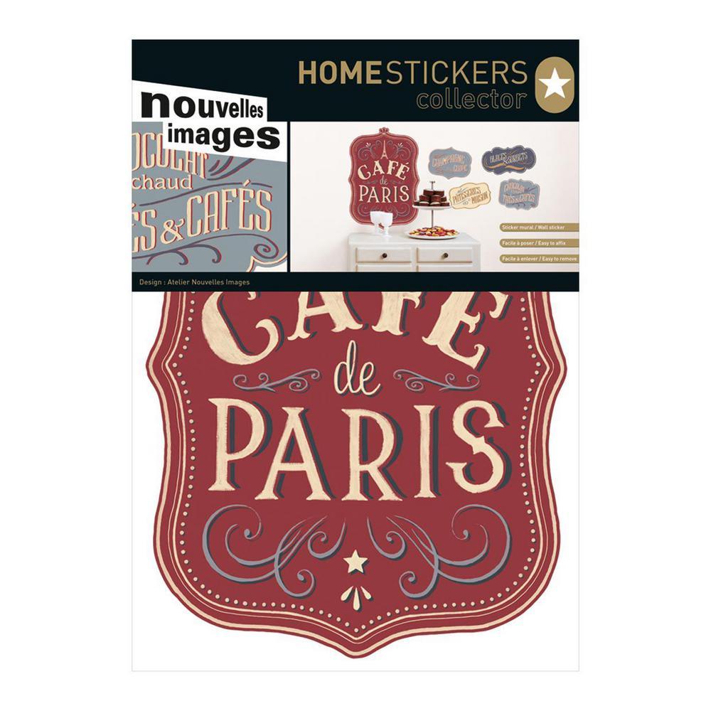 Nouvelles Images Multicolor Caf de Paris Home Sticker HOST 1813