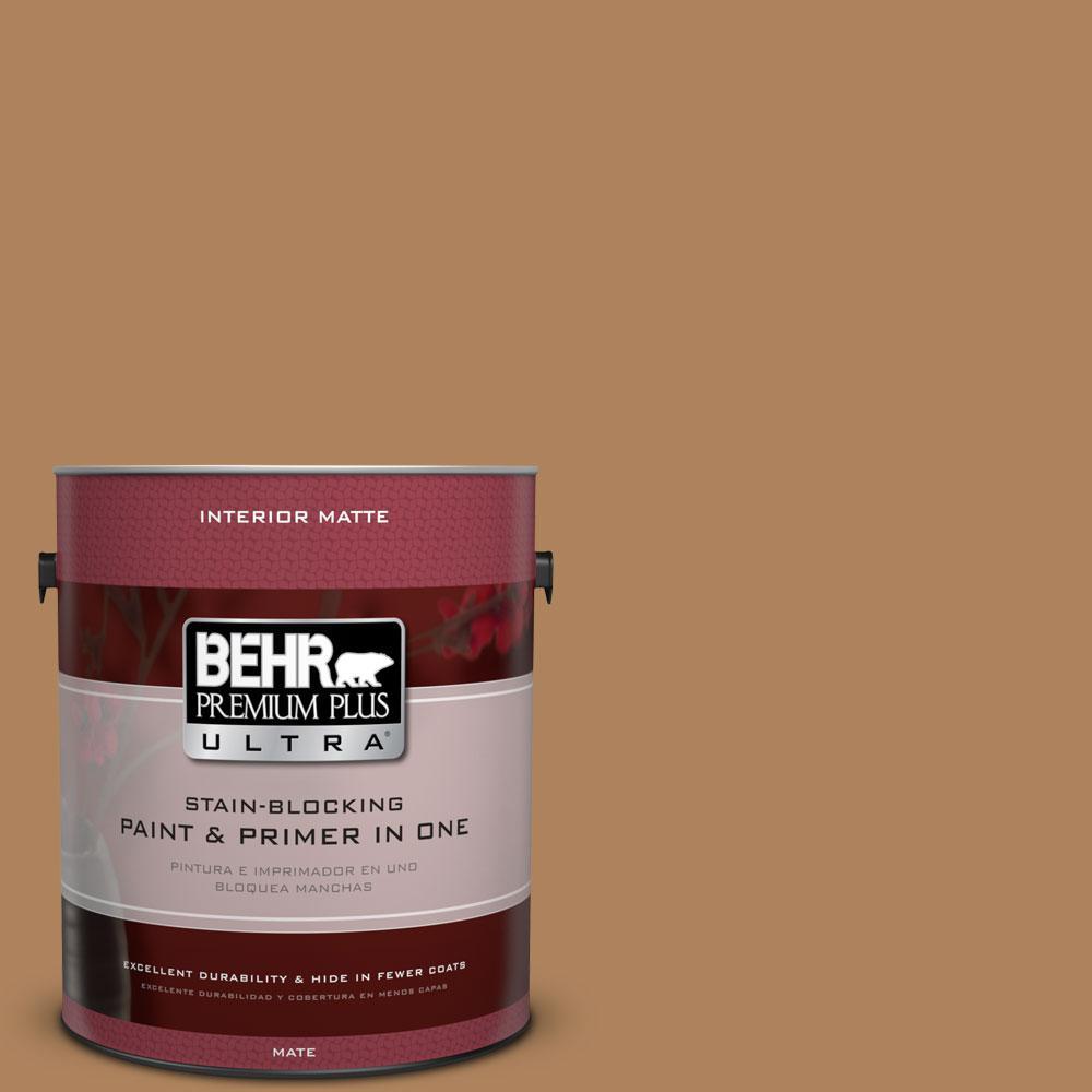 BEHR Premium Plus Ultra 1 gal. #S260-6 Circus Peanut Matte Interior Paint