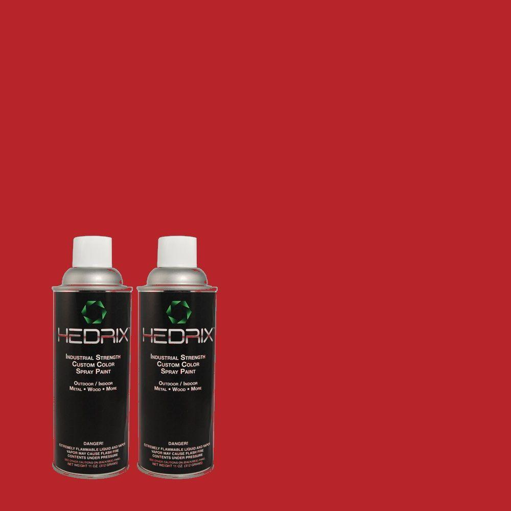 Hedrix 11 oz. Match of PPH-66 Pomegranate Red Low Lustre Custom Spray Paint (2-Pack)