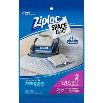 22.5 in. H x 18 in. W Plastic Suitcase Travel Space Bag 3-2 per Pack