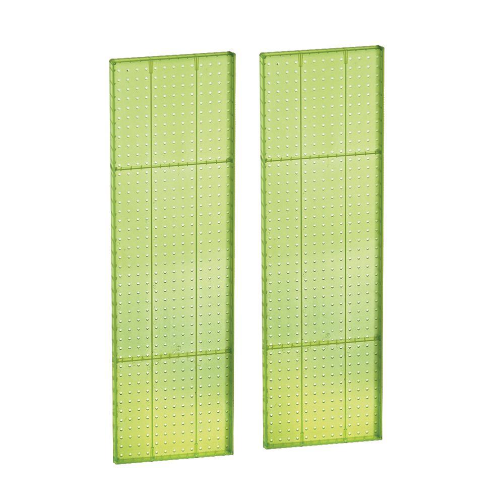 44 in. H x 13.5 in. W Styrene Pegboard in Green (2-Pieces per Box)