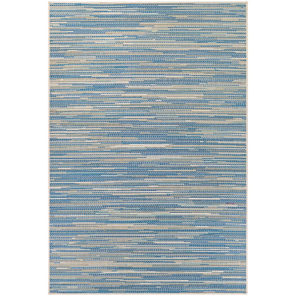 Monaco Alassio Sand-Azure-Turquoise 8 ft. x 11 ft. Indoor/Outdoor Area Rug