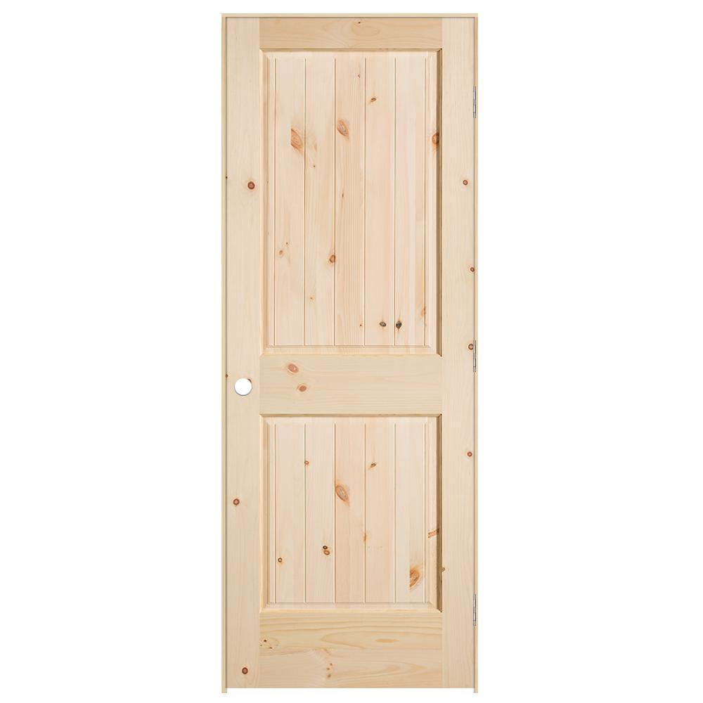 Knotty Pine Cabinet Doors: Masonite 30 In. X 80 In. 2-Panel V-Groove Hollow-Core