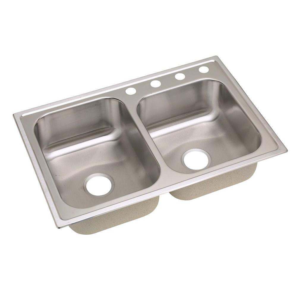 drop in kitchen sink stainless steel elkay signature drop in stainless steel 33 in 4 9620