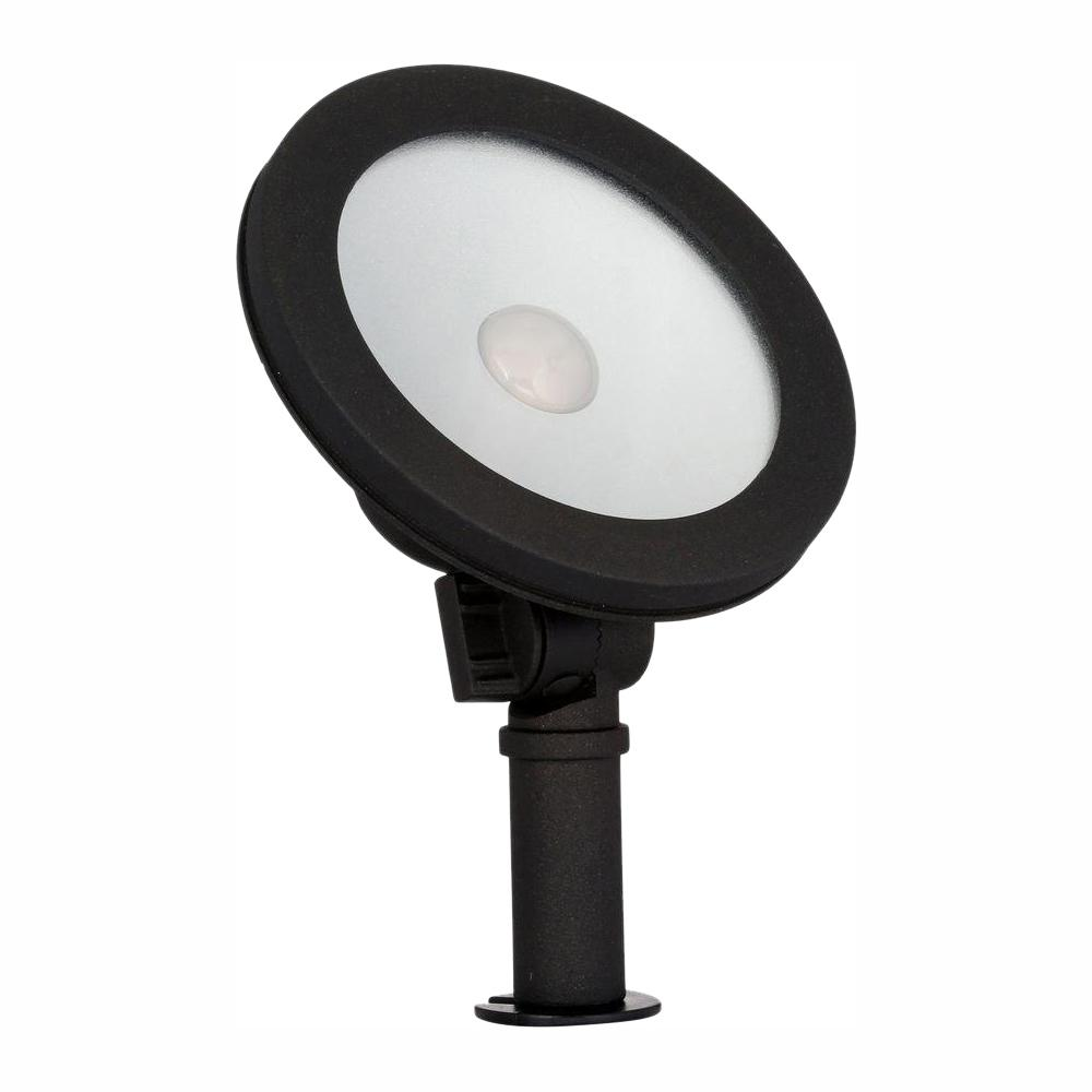 hamptonbay Hampton Bay Low-Voltage 50-Watt Equivalent Black Outdoor Integrated LED Landscape Wall Wash Light
