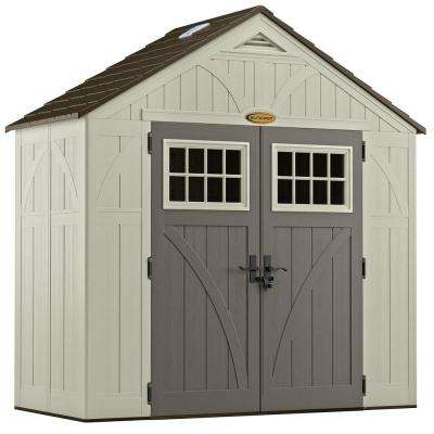 Tremont 4 ft  3/4 in  x 8 ft  4-1/2 in  Resin Storage Shed