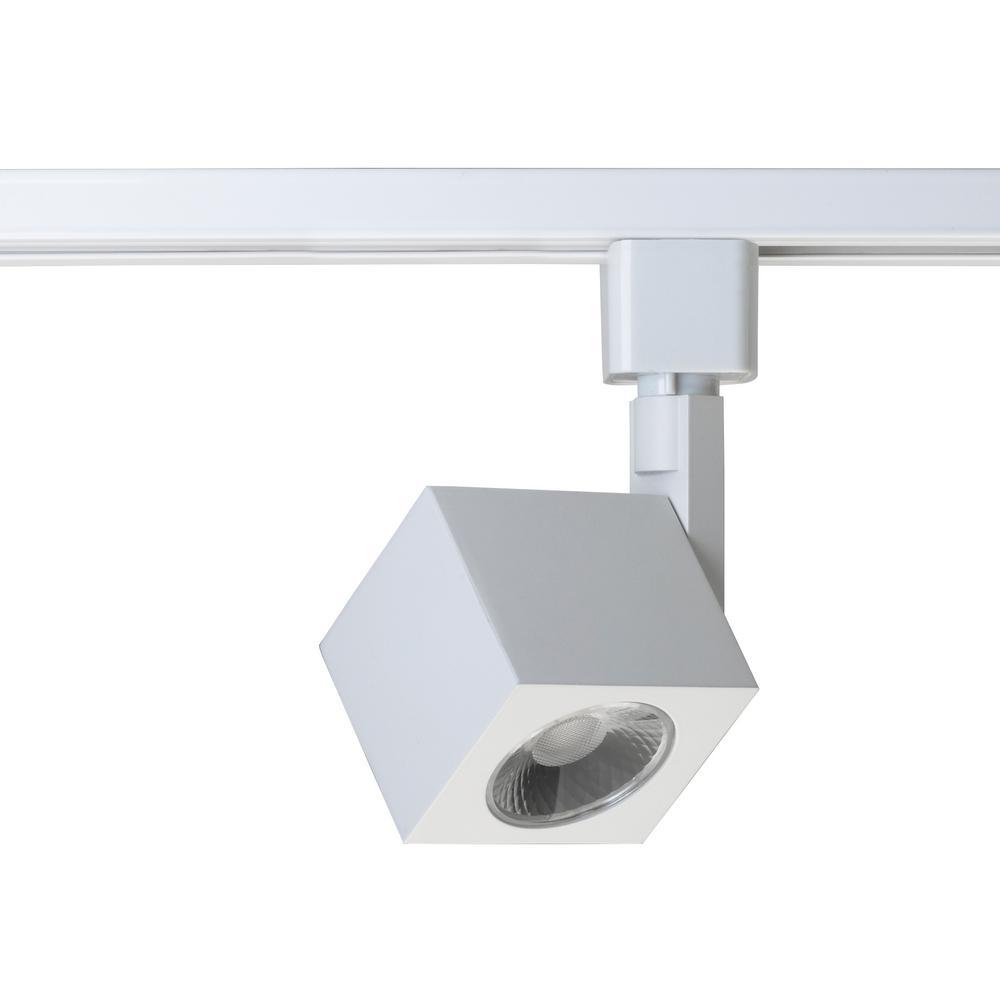 Led Track Light Head White: Filament Design White Integrated LED Track Lighting Head