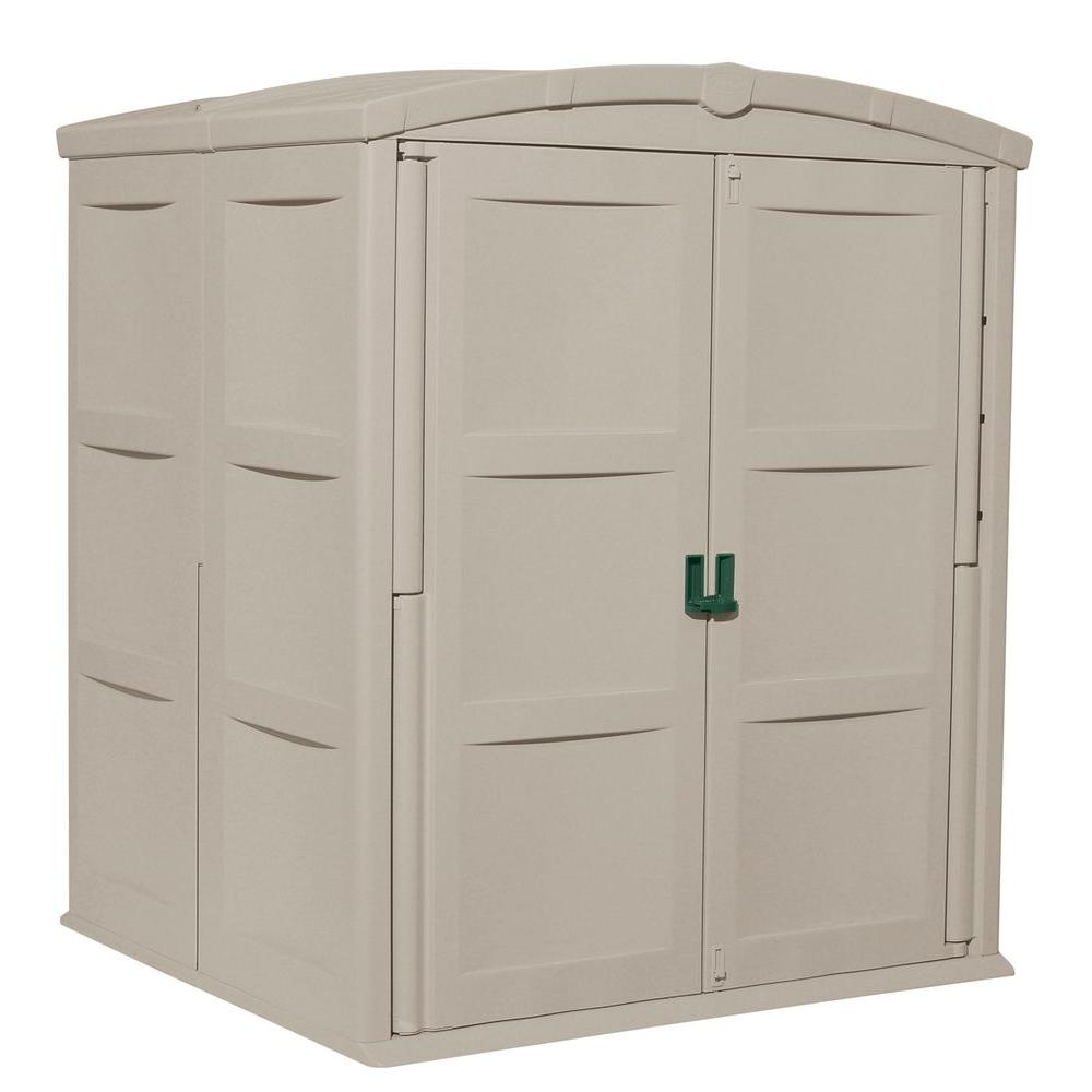 Suncast Large 5 ft. 5 in. x 5 ft. 6 in. Resin Storage Shed
