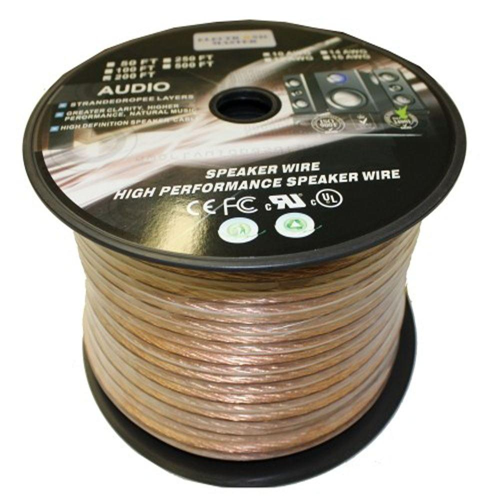 Speaker Wire The Home Depot Wiring A House For Sound 14 2 Stranded