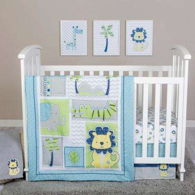 Jungle Roar 4-Piece Crib Bedding Set