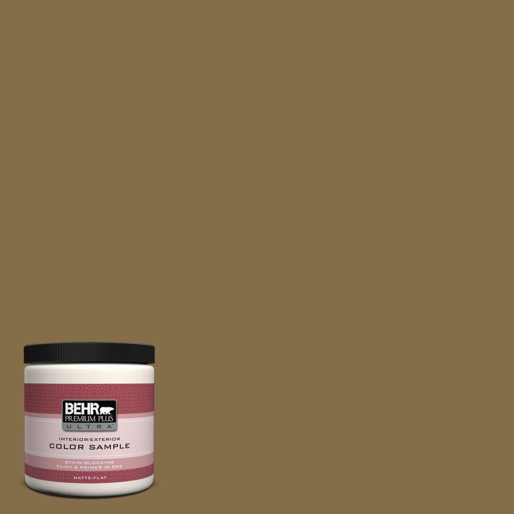 BEHR Premium Plus Ultra 8 oz. #350F-7 Wild Mushroom Interior/Exterior Paint Sample