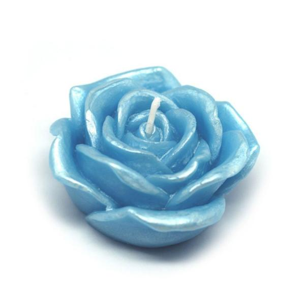 3 in. Blue Rose Floating Candles (12-Box)