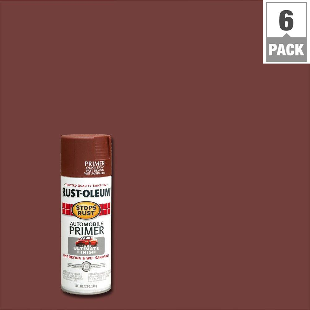 Flat Red Automotive Primer Spray 6