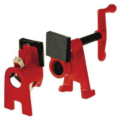 H-Style Pipe Clamp Fixture Set for 1/2 in. Black Pipe