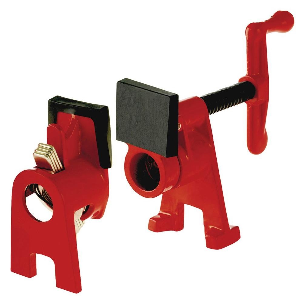 Bessey h style pipe clamp fixture set for in black
