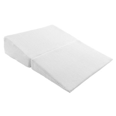 Memory Foam Pillow with Bamboo Fiber Cover Folding Wedge-Pillow in Ivory