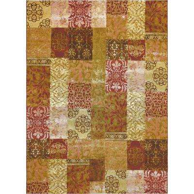 "Outdoor Botanical Gold 8' x 11'4"" Rug"
