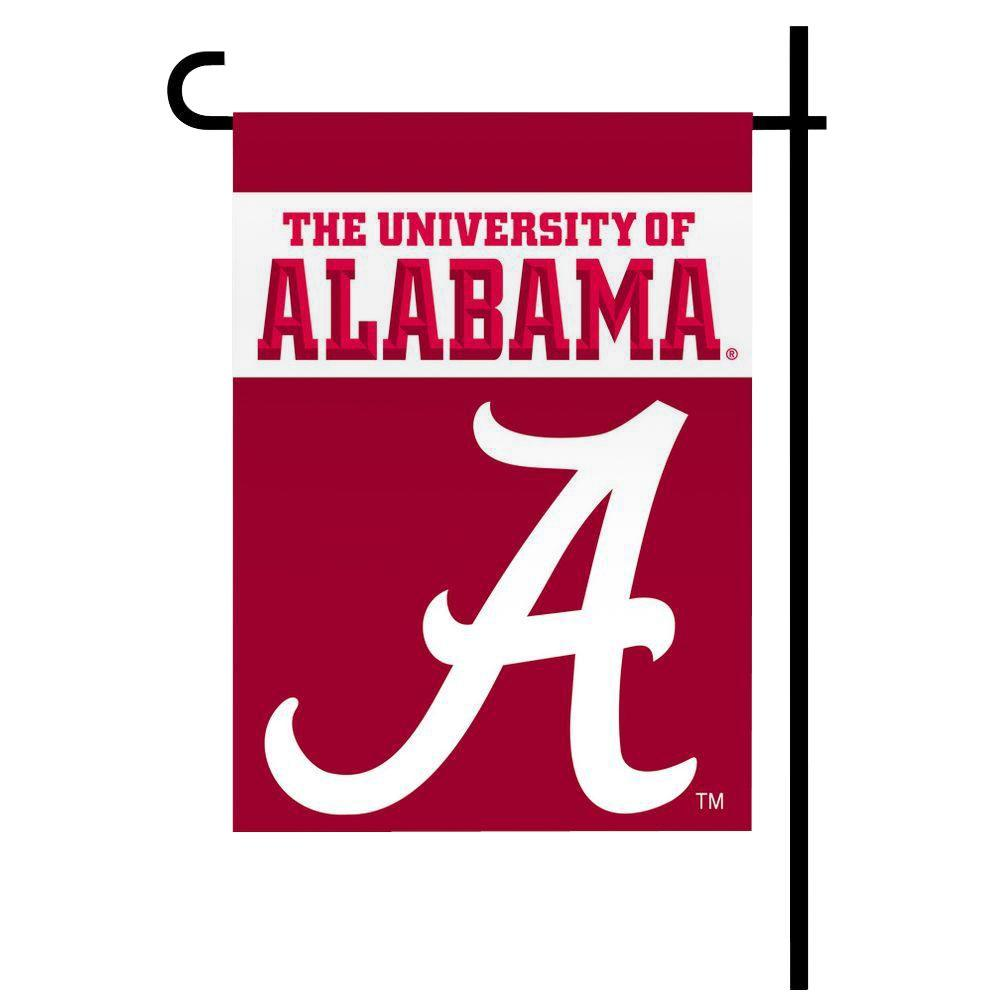 Bsi Products Ncaa 13 in. x 18 in. Alabama 2-Sided Garden ...