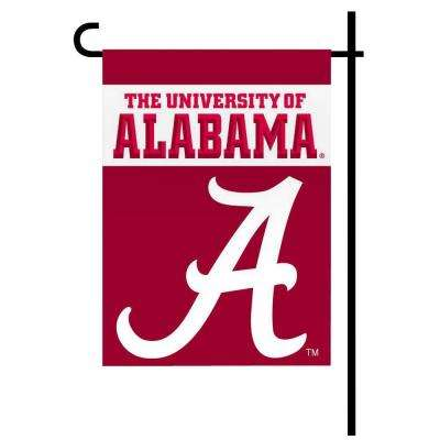 NCAA 13 in. x 18 in. Alabama 2-Sided Garden Flag Set with 4 ft. Metal Flag Stand