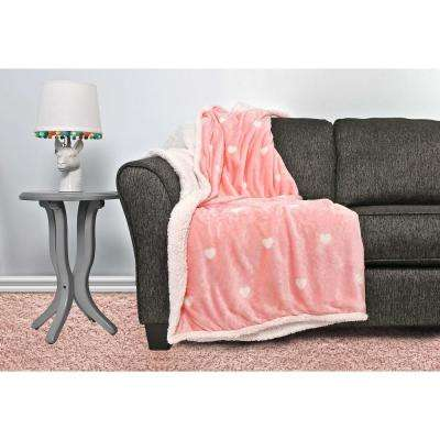 Kelly Bubble Gum Pink Sherpa Throw