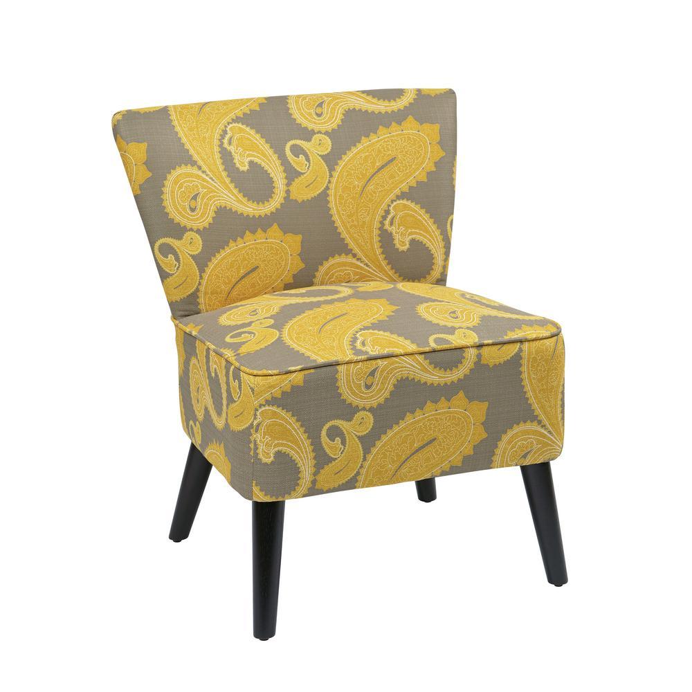 Swedon Dijon Fabric Apollo Chair with Dark Espresso Finished Legs