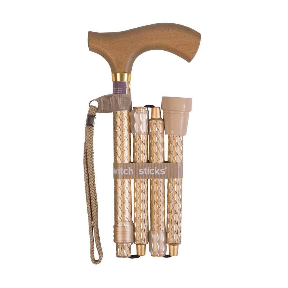 Switch Sticks Folding Walking Cane in Pearl Gold