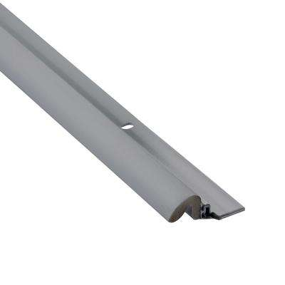 KC600 1-5/8 in. x 80 in. Gray Premium Foam and Aluminum Screw On Door Weatherstrip Set Contractor Pack of 25