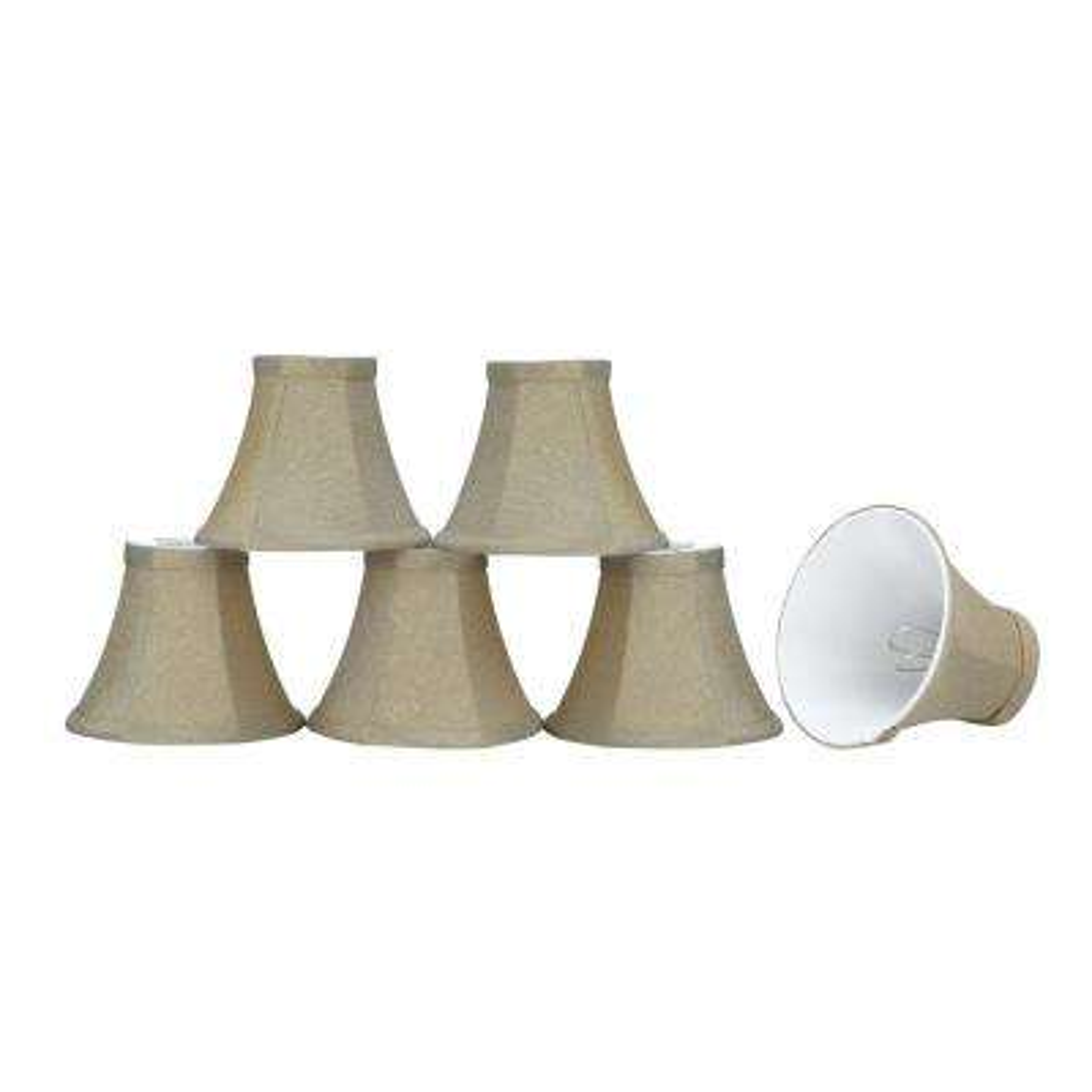 6 in. x 5 in. Light Golden Bell Lamp Shade (6-Pack)