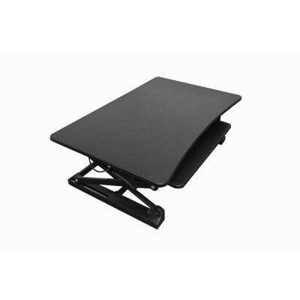 48 in. Black Desktop Sit to Standing Desk