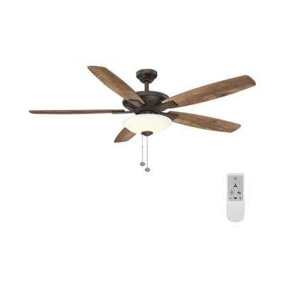 Menage 56 in. Integrated LED Oil Rubbed Bronze Ceiling Fan with Wi-Fi Remote Control Works with Google and Alexa