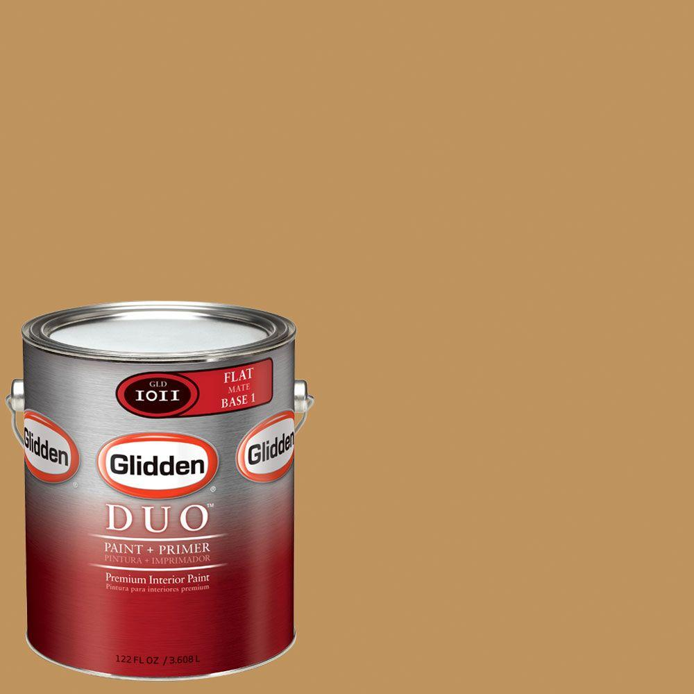 Glidden DUO Martha Stewart Living 1-gal. #MSL081-01F Cornucopia Flat Interior Paint with Primer-DISCONTINUED