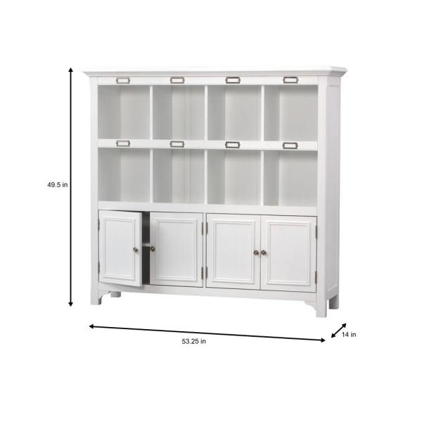 Home Decorators Collection-William White Organizer with 8 Cubes (53.25 in. W x 49.5 in. H)