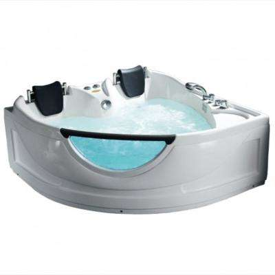 61 in. Acrylic Freestanding Flatbottom Whirlpool and Air Bathtub in White