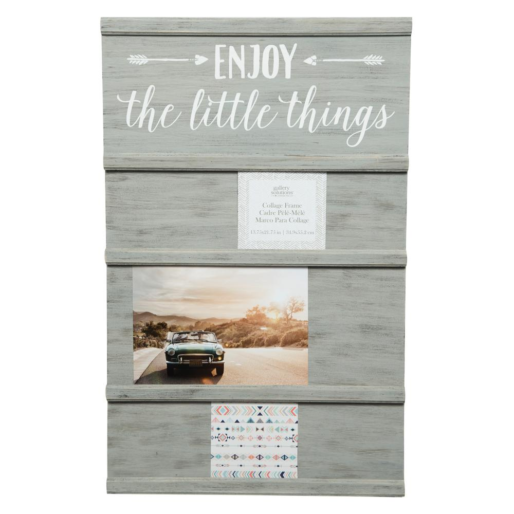 Pinnacle Little Things Graywash Sliding Collage Picture Frame ...