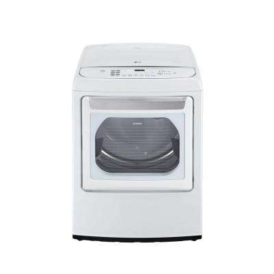7.3 cu. ft. Gas Dryer with EasyLoad and Steam in White