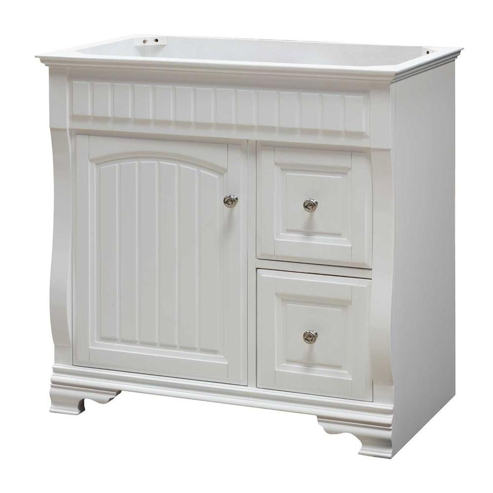 Pegasus 36 in. Vanity Cabinet Only in White