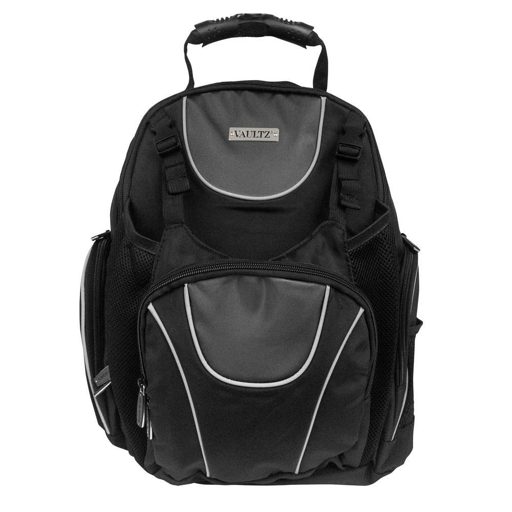 Vaultz 18 In Black Locking Backpack With Security Tether Vz00747