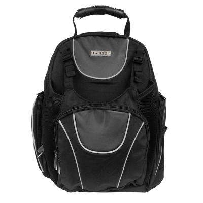 18 in. Black Locking Backpack with Security Tether
